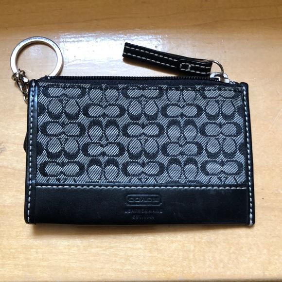 Coach Handbags - Coach black logo coin purse
